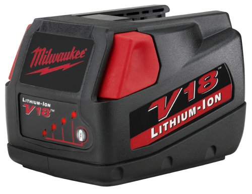 Milwaukee 48-11-1830 V18 18-Volt 3.0 Amp Hour Lithium-Ion Slide Style Battery - 28v Lithium Ion Charger