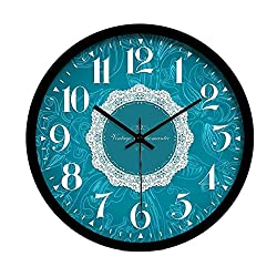 MGE UPS Systems Clock Wall Clock,Silent Silent Metal Modern Round Wall Clock Quartz Clock Hanging Clock for Living Room Kitchen Office Space (Size : 12inch)