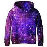 SAYM Teen Boys' Galaxy Fleece Sweatshirts Pocket Pullover Hoodies 4-16Y NO17 S