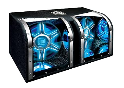 Dual Electronics BP1204 12 inch illumiNITE High Performance Studio Enclosed Subwoofers with 1,100 Watts of Peak (Subs In Box)
