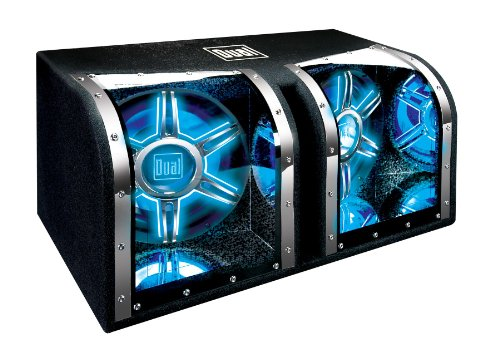 Dual Electronics BP1204 12 inch illumiNITE High Performance Studio Enclosed Car Subwoofers with 1,100 Watts of Peak Power (Sub Speaker Amp)