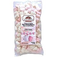 Hoosier Hill Farm Belgian Marshmallow Tubes, Pink and White, 2.2 lbs (1kg)