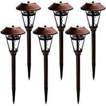 GIGALUMI Solar Pathway Lights Outdoor, 6 Pack Super Bright High LUMEN Solar Powered LED Garden Lights for Lawn, Patio, Yard