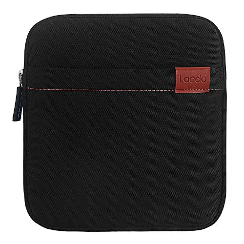Lacdo Waterproof External USB CD DVD Writer Blu-Ray Protective Storage Carrying Case Bag Compatible Apple MD564ZM/A SuperDrive,Magic Trackpad, Samsung/LG / Dell/ASUS / External DVD Drives, Black (Cd Carrying Cases)