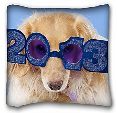 """Decorative Square Throw Pillow Case Animals glasses rate 18""""*18"""" Two Side"""
