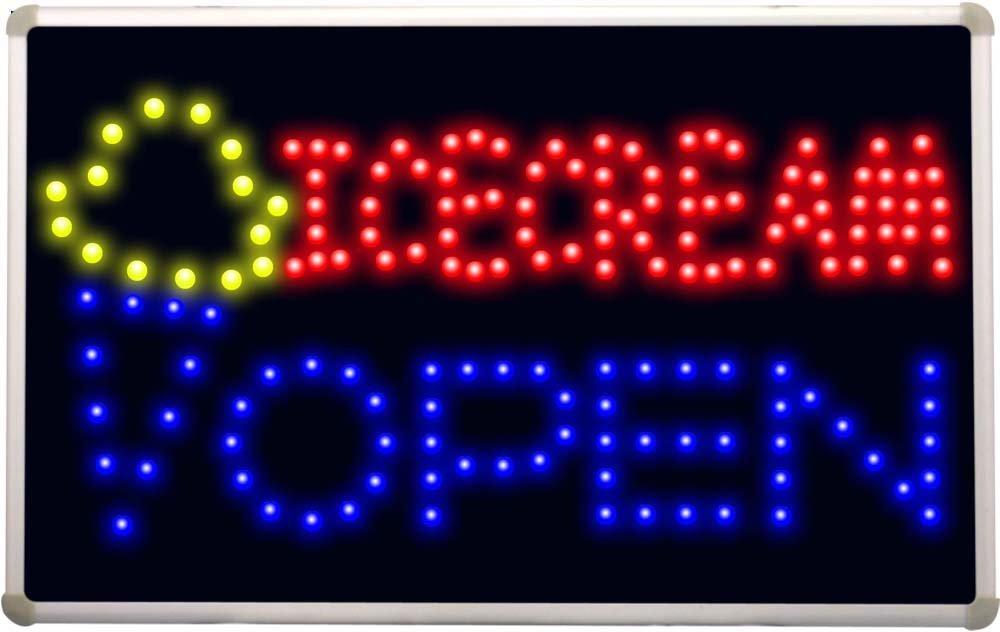 led123 Icecream OPEN Cafe Led Neon Sign ADV PRO