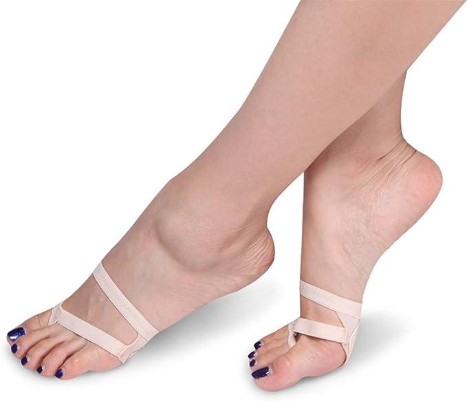 Taille M Strings Pied Ballet Belly Danse Chaussures Filles Femme Lanieres Danse Boule de lavant-Pied Coussin Noir