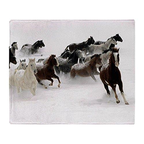 "CafePress Running Horses Soft Fleece Throw Blanket, 50""x60"""