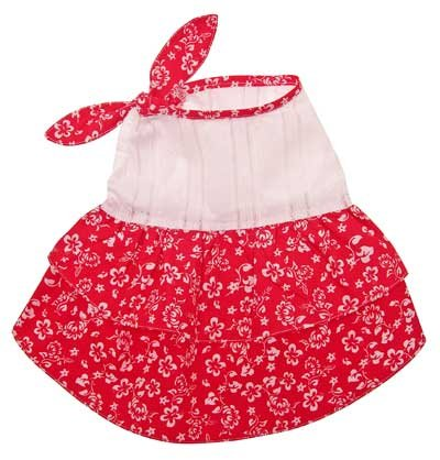 Cute Hawaiian Dress with a Shoulder Knot for Small Dogs XL