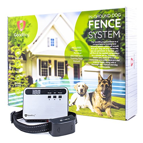 New GoodBoy Buried or Above-Ground Invisible Electronic Pet Fence (Silver) 1 collar
