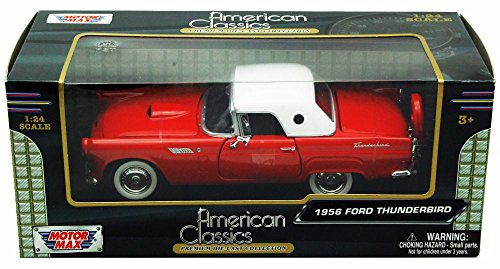 Ford Thunderbird Model - Motor Max 1:24 W/B American Classics 1956 Ford Thunderbird Diecast Vehicle