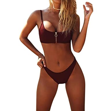 Lolittas New Bikini Sets For Women High Waisted Plus Red Zipper
