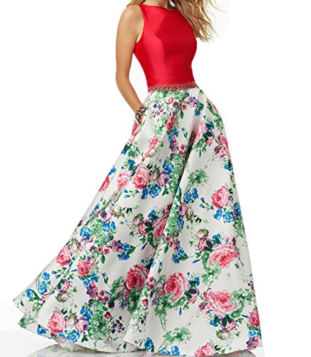 Ellenhouse Women's Long Floral High Neck Beaded Prom Party Evening Dress EL262