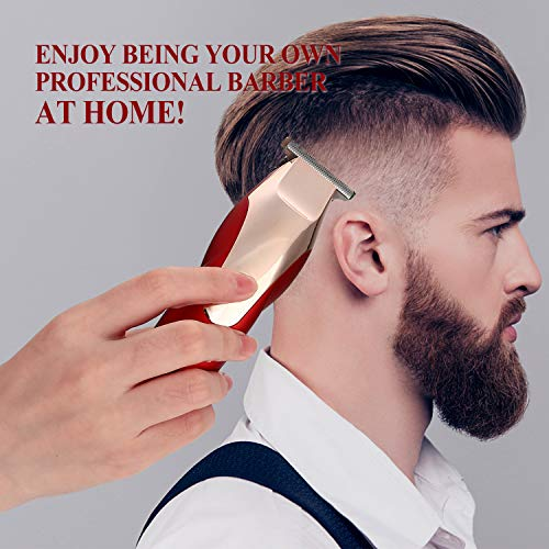 BESTBOMG Pro T Outliner Trimmer Mens Hair Clippers Cordless Hair Trimmer Rechargeable Hair Cut Kit & Grooming Kit Beard Trimmer For Men,Kids with Guide Combs