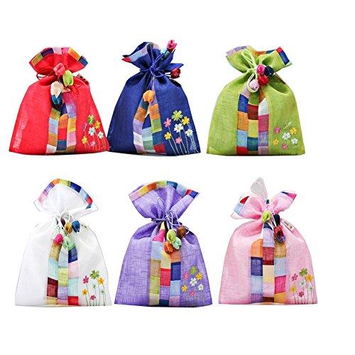 PALBOG Ramie Cloth Gift Pouches Prop Bag Juwelry Bag Scent Bag 4pcs