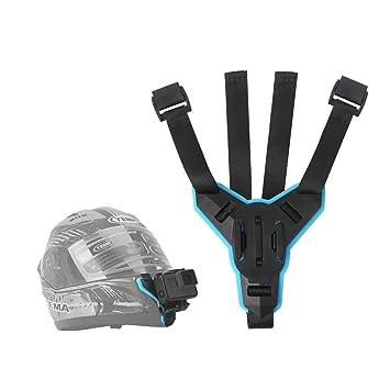 Telesin Sangle de Casque de Moto Support de Fixation Avant Menton pour GoPro  Hero 2018  c491bb600ce1