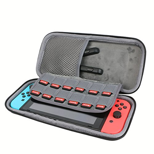 Hard Travel Case for Nintendo Switch Case with Screen Protector by CO2CREA