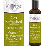 100% Natural Vitamin C Skin Whitening Facial Scrub, Gentle Exfoliating & Smoothing - 'Get Refreshed!' by Vi-Tae® - For all Skin Types - 4.46oz
