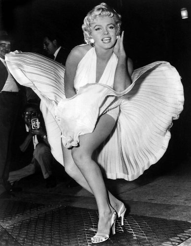 Amazon.com: Marilyn Monroe Classic Poster Print on Canvas, Framed ...