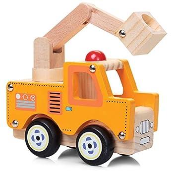 Tobar De madera natural de juguete pintado Camiones madera: Amazon.es: Juguetes y juegos