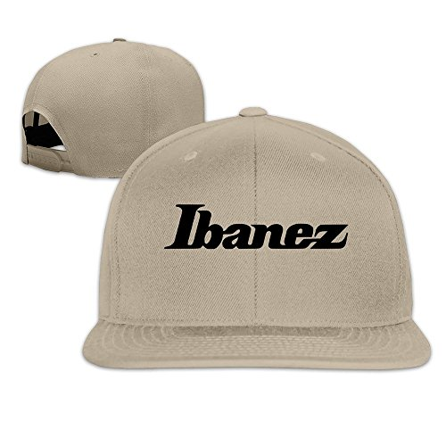 Price comparison product image QWERT Unisex IBANEZ GUITAR Flat Billed Cap Baseball-caps 1 Size ColorKey