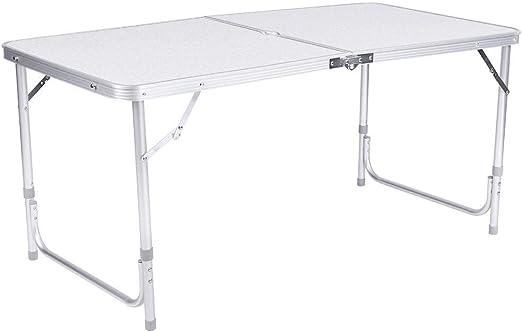 Tavoli Pieghevoli Da Mercatino.Ebtools Tavolo Da Campeggio Pieghevole In Alluminio Per