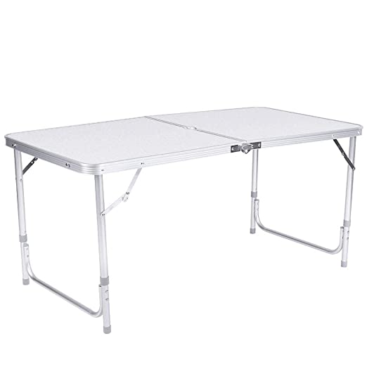 EBTOOLS Mesa Plegable de Aluminio Portátil 4 pies Escritorio ...