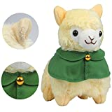 Alpacasso 6.7'' Yellow Cloak Plush Alpaca, Plush Stuffed Animals Toys.