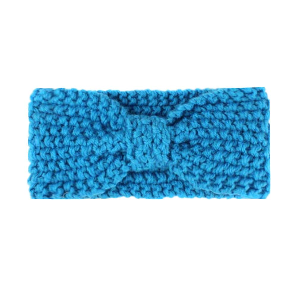 Zhou Yunshan Bande de Cheveux pour Enfants Hiver Baby Boho Knit Hair Band Accessoires pour Cheveux. Couleur : A