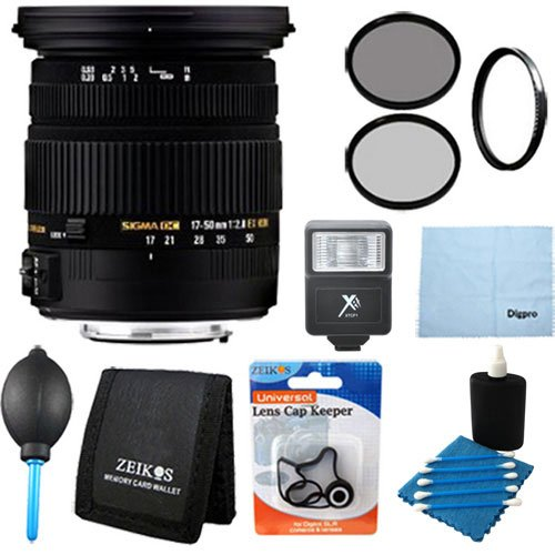 Sigma 17-50mm f/2.8 EX DC OS HSM FLD Large Aperture Stand...