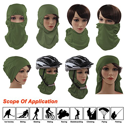 Tactical Balaclava Hood, Skiing Face Mask, Thin / Breathable / Cold Weather / Lightweight / Multi Purpose / Winter Motorcycle Bike Bicycle Helmet Cycling Mask for Youth Adult Women Ladies Men by Dseap
