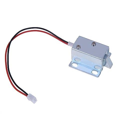 Everpert - Mini cerradura electromagnética para cajón de control eléctrico (6 V/12 V