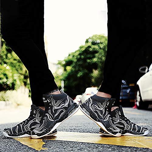 ball Chocs Printemps Basket Unisexe Pu Automne Anti Sketchers Sport Montantes De drapantes Aux Confort Noir Rsistance Chaussures RzRUFt