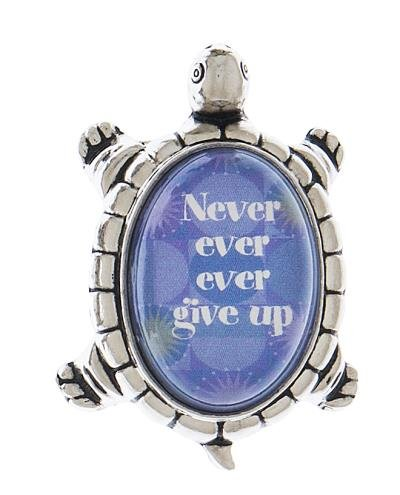Ganz 1.5 Inch Lucky Turtle Figurine - Never Ever Give Up
