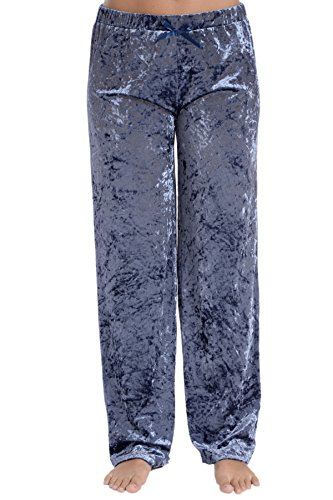 Cozy Loungewear Women's Lightweight Velvet Pajama Pants (Flintstone, XL)