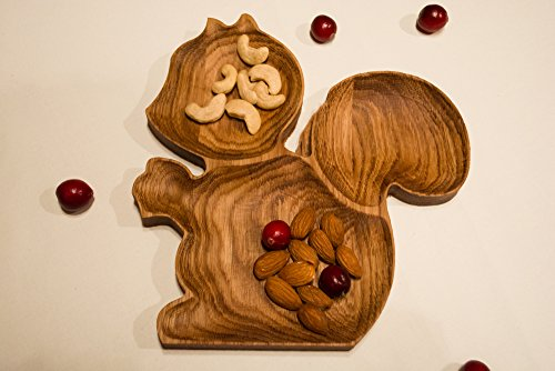 Wooden oak plates animal forms