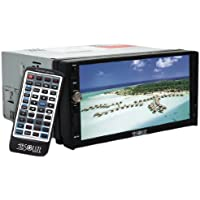 Absolute DD-3000 7-Inch Double Din Multimedia DVD Player Receiver with Touch Screen System Display and Detachable Front Panel SD/USB Slot