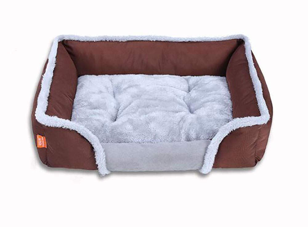 Medium Brown Medium Brown KYCD Dog bed Dog mat cushion House pet nest Pet supplies Warm lint removable detachable for cats dogs
