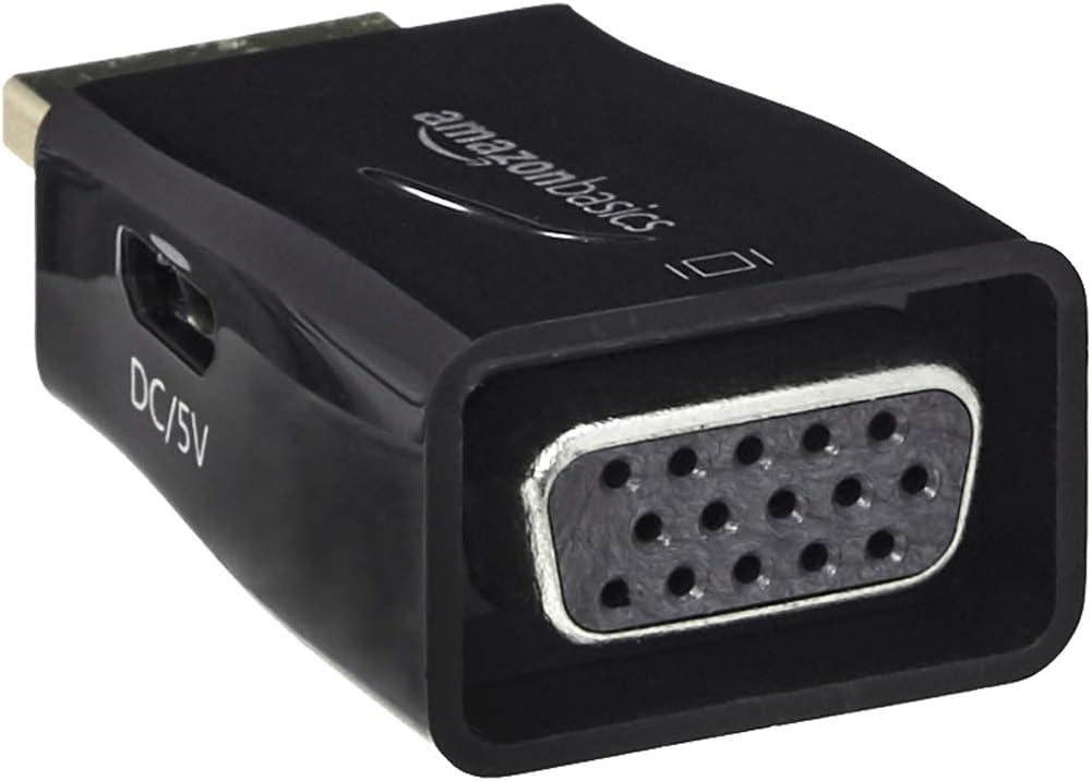 DisplayPort-auf-HDMI-Adapter Basics Adapter f/ür HDMI-Buchse auf VGA mit 3,5-mm-Audioanschluss /& HL-007253