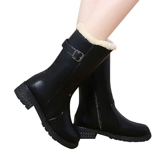 7e7cbd336318c Outtop(TM) Women's Winter Martain Boots Ladies Mid-Calf Snow Rain Boots  Footwear Warm Shoes