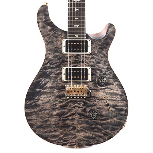 - PRS Wood Library Custom 24 10 Top Quilt Charcoal w/Brazilian Rosewood Fingerboard & Pattern Thin Neck (Serial #259815)