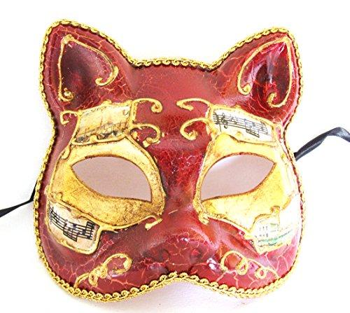 Antique Cat Mardi Gras Mask Venetian Gatto Halloween Costume -