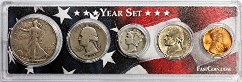 1944 Coin Year Set in Custom Case with American Flag - Great Gift for Any Occasion