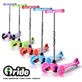 iRide Mini Three Wheel Kick Scooter - Perfect For Children Aged 2+ - LED Light Up Wheels - Easy Glide Tilt to Turn Ensuring Easy Use For Small Children & Hours Of Fun Maximum Child Safety … (Green)