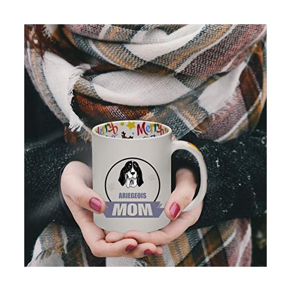 Ceramic Christmas Coffee Mug Mom Ariegeois Dog Funny Tea Cup 4