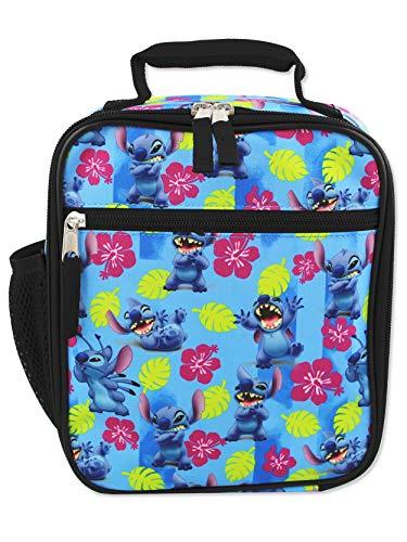 Disney Lilo & Stitch Girls Boys Soft Insulated School Lunch Box (One Size, Blue)