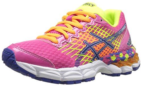 ASICS GEL Nimbus 17 GS Running Shoe ,Hot Pink/Deep Blue/Flas