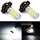 6000k fog light bulbs - JDM ASTAR 1200 Lumens Extremely Bright 144-EX Chipsets 5202 5201 LED Fog Light Bulbs with Projector for DRL or Fog Lights, Xenon White