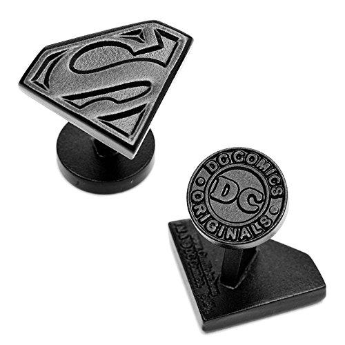 - Black Satin DC Comics Superman Cufflinks