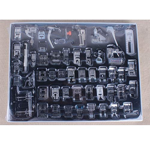 (Eagles Sew Machines Kit 52pcs Domestic Sewing Machine Braiding Blind Stitch Darning Presser Foot Feet Kit Set for Brother Singer Janome)